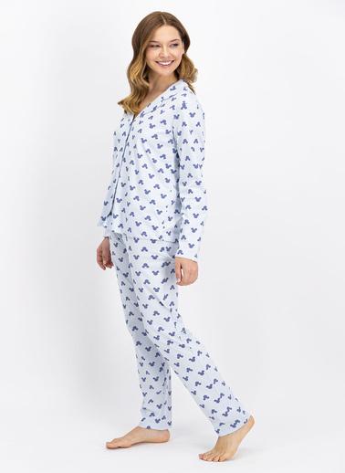 Mickey Mouse Pijama Takım Mavi